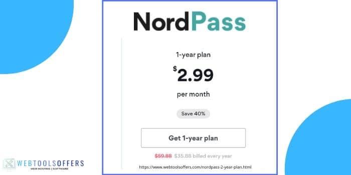 Nordpass 1 year Premium Plan