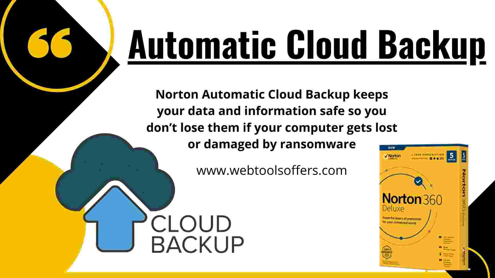 Norton 360- Automatic Cloud Storage