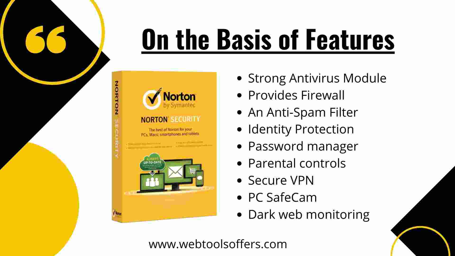 Norton 360 VS norton Security- Features Factor
