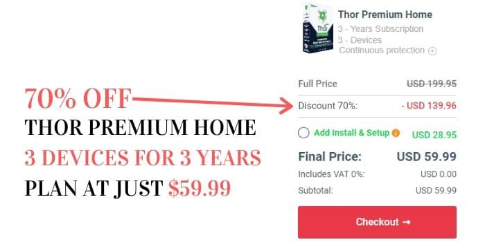 Thor premium discount coupons