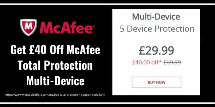 McAfee Total protection 2020 Coupon