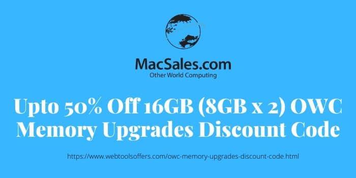 16GB (8GB x 2) OWC Memory Upgrades Discount Code