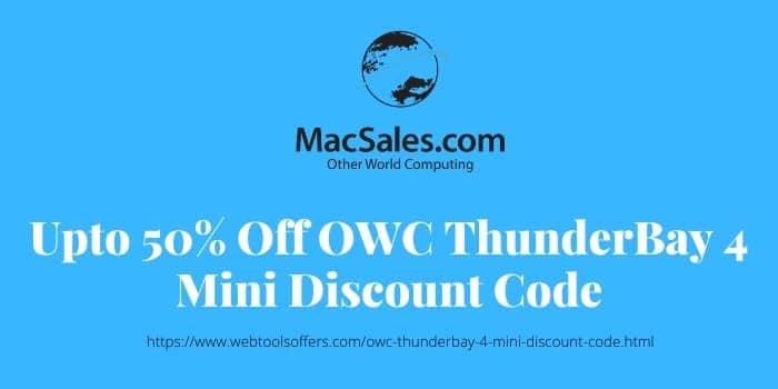 OWC ThunderBay 4 Mini Discount Code