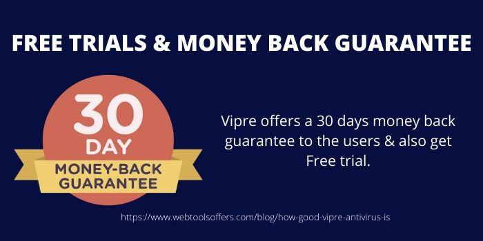 FREE TRIALS & MONEY BACK GUARANTEE