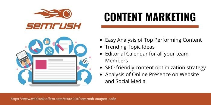 SEMrush Coupons- CONTENT MARKETING