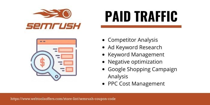 SEMrush Discount Coupon- PAID TRAFFIC