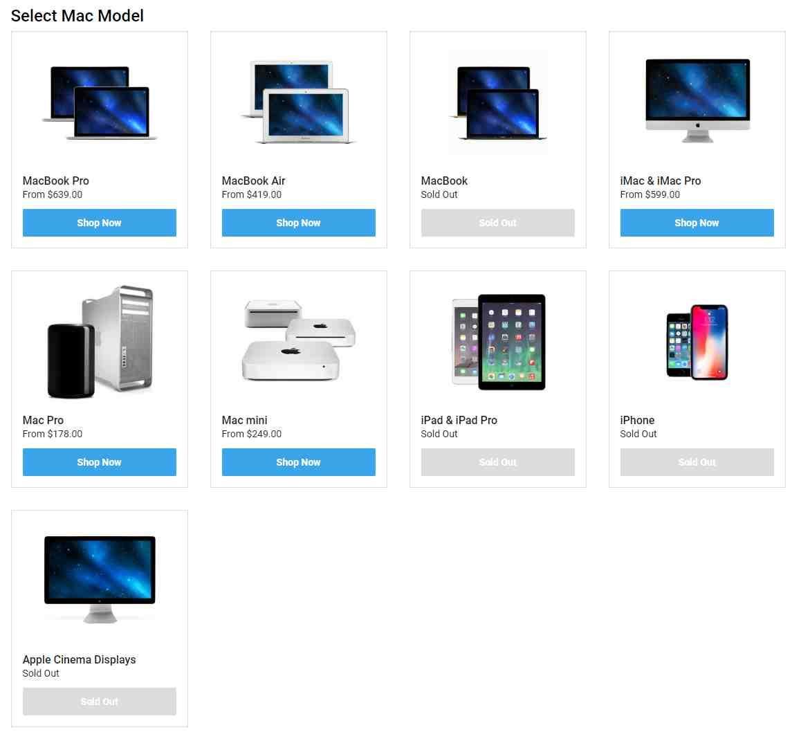 OWC MacSales New & Used Macs Discount Deal