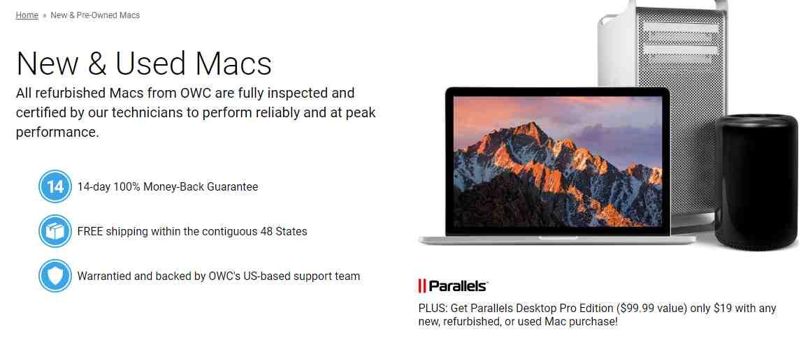 OWC MacSales New & Used Macs Discount