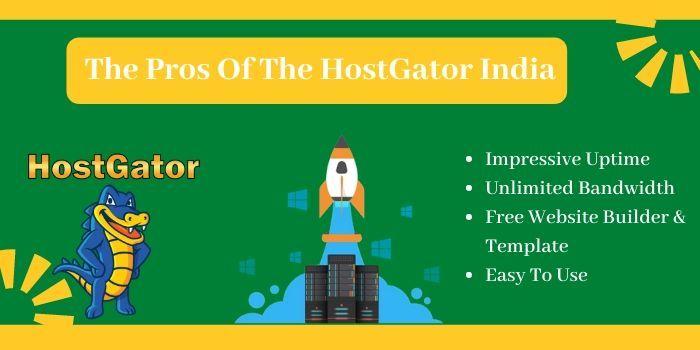 Pros of the HostGator India
