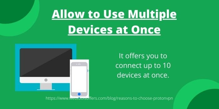 Reasons to Choose ProtonVPN Over Other VPN Software- Allow Multiple Devices