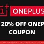 UPTO 20% OFF ONEPLUS 8 COUPON