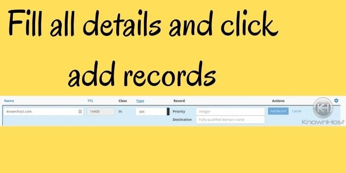 Details and click add records