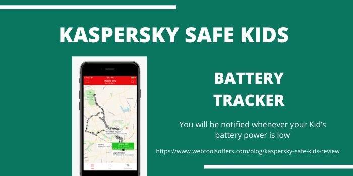 Kaspersky Safe Kids - Battery Tracker