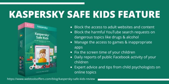Kaspersky Safe Kids Review - Features