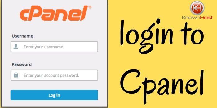 Login to Cpanel