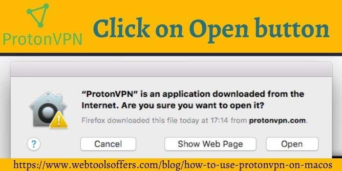 ProtonVPN open File
