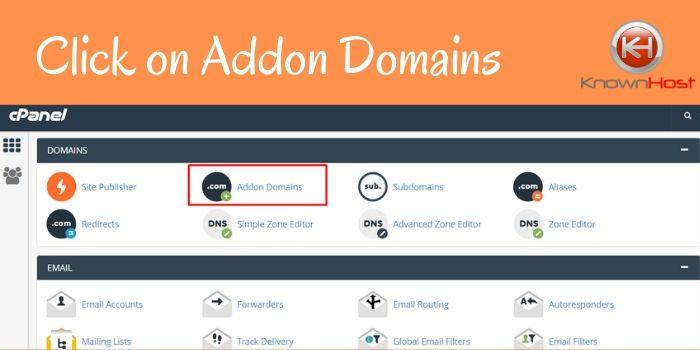 Click on add-on domains