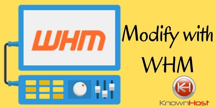 modify with Cpanel