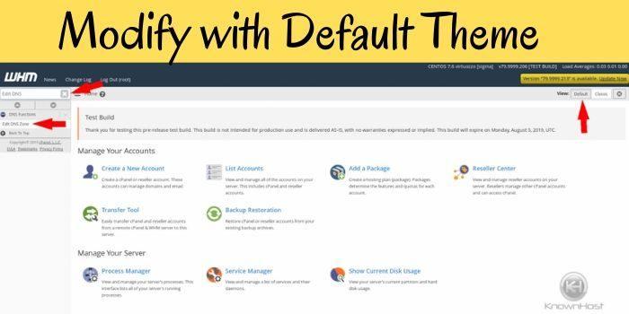 modify with Default Theme