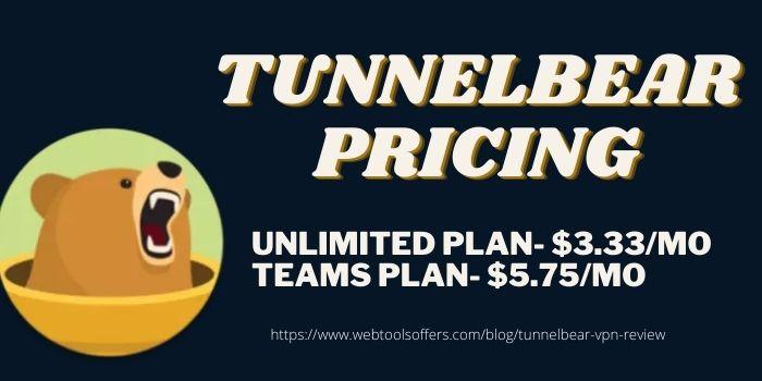 TunnelBear VPN Pricing