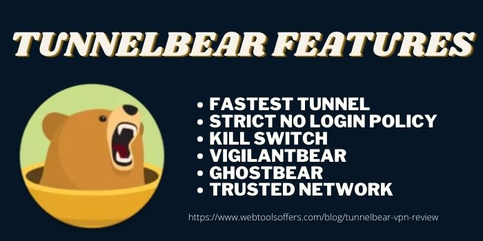 TunnelBear VPN Review- Features