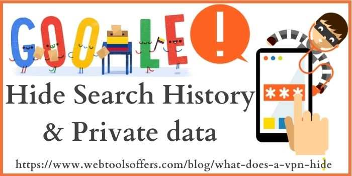 hide search history & private data