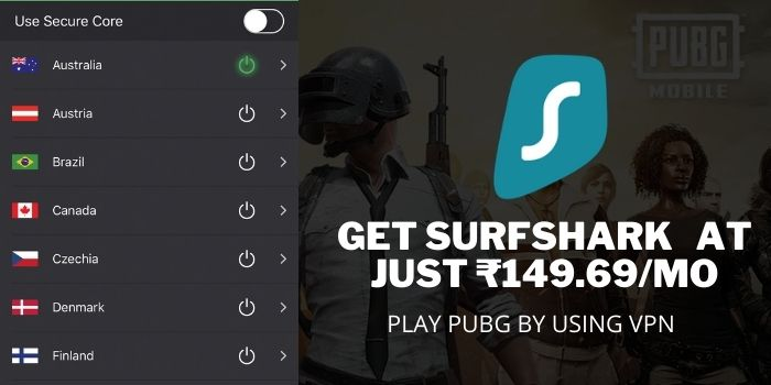PLAY PUBG AFTER BAN IN INDIA with Surfshark