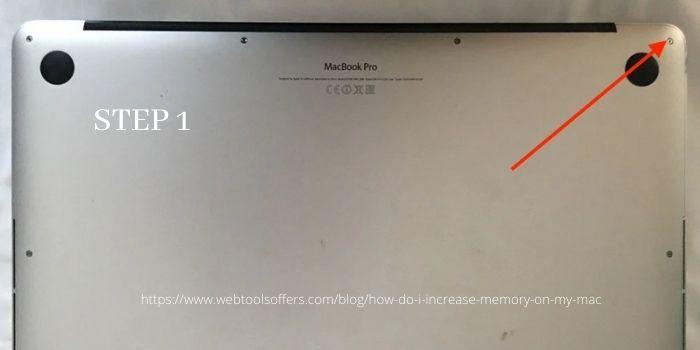 STEPS TO UPGRADE RAM on MACbook Step 1