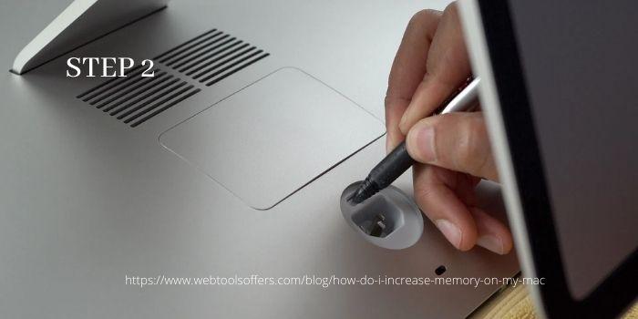 Upgrade Ram on your iMac- Step 2