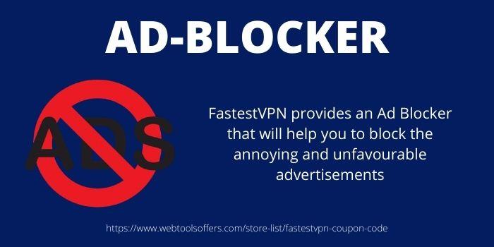 Ad-Blocker- FastestVPN Disocunt Code