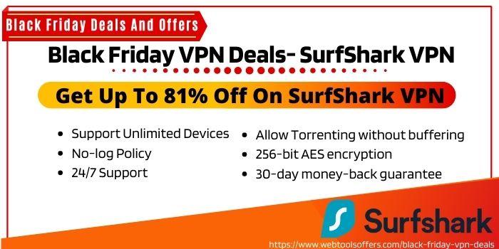 Black Friday VPN deals Reddit - SurfShark VPN
