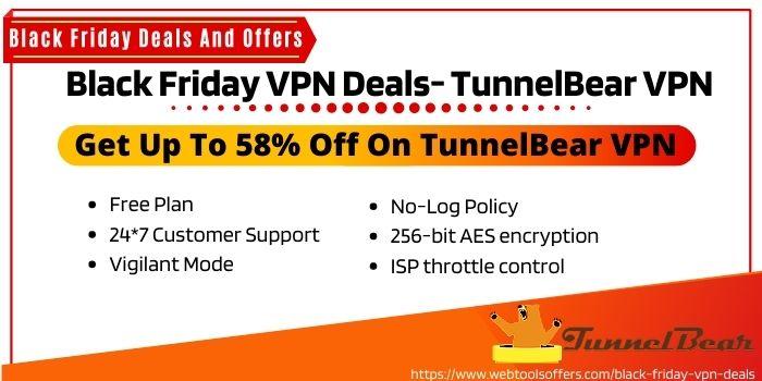 Black Friday VPN Discount Offer for TunnelBear VPN