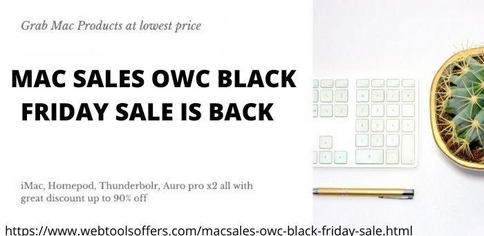 MACSALES OWC BLACK FRIDAY OFFERS