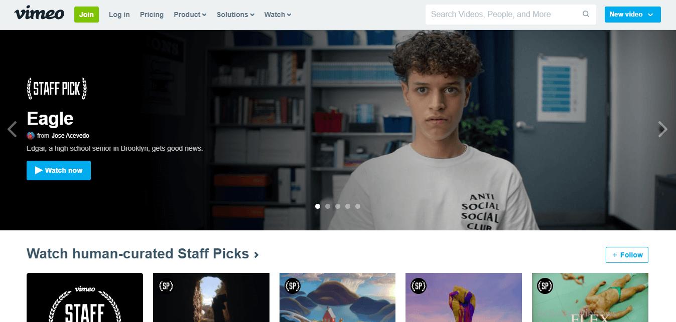 vimeo layout