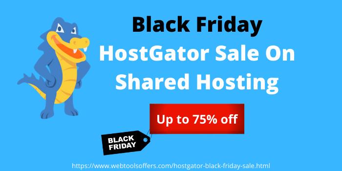 Black Friday HostGator Sale on Shared Hosting