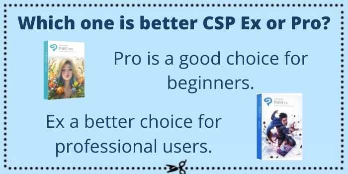 Clip Studio Paint Pro or Ex