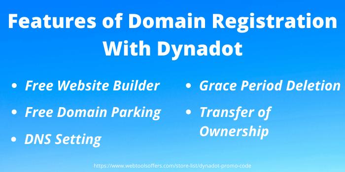 Dynadot Coupon Code - Dyndot Domain Registration Features