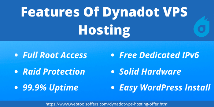 Dynadot Coupon Code- Features of Dynadot VPS Hosting