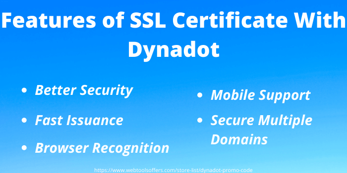 Dynadot Discount Code - Features of SSL certificate with Dynadot