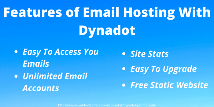 Dynadot Promo Code - Features of email hosting with Dynadot