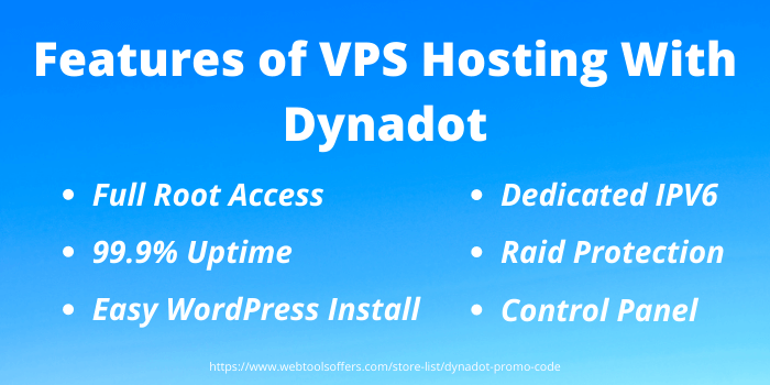 Features of VPS hosting with Dynadot - webtoolsoffers.com
