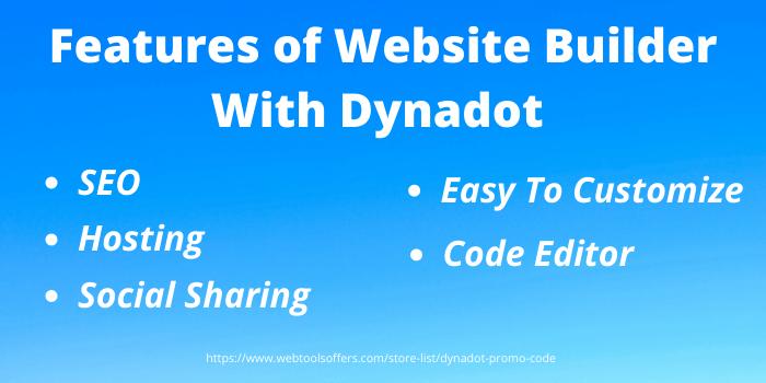 Features of website builder with Dynadot - webtoolsoffers.com