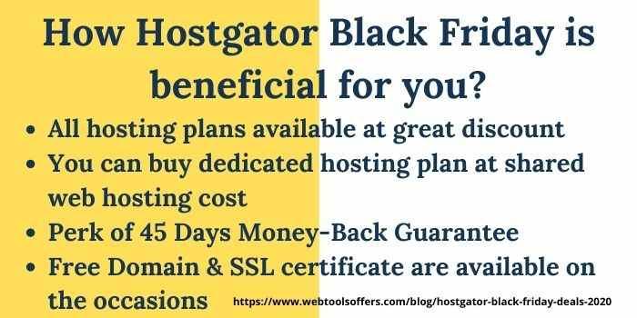Hostgator Black Friday Benefits