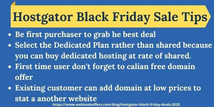 Hostgator Black Friday Tips