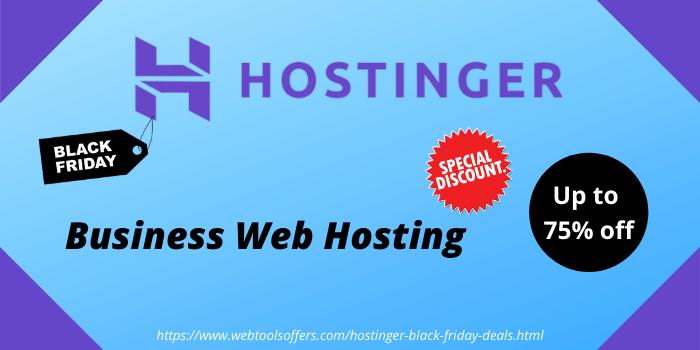 Hostinger business web hosting up to 75% off