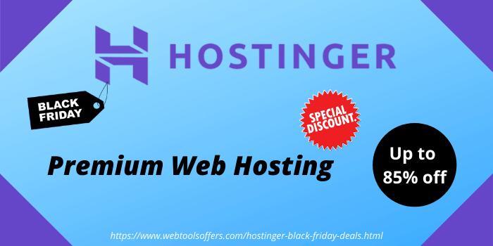 Hostinger premium web hosting upp to 85% off