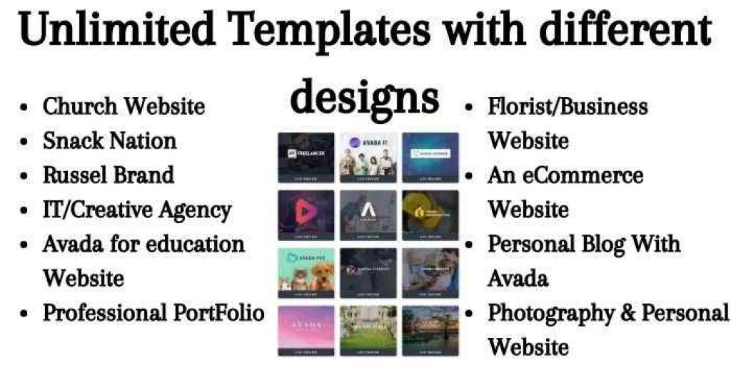 Avada Unlimited Templates