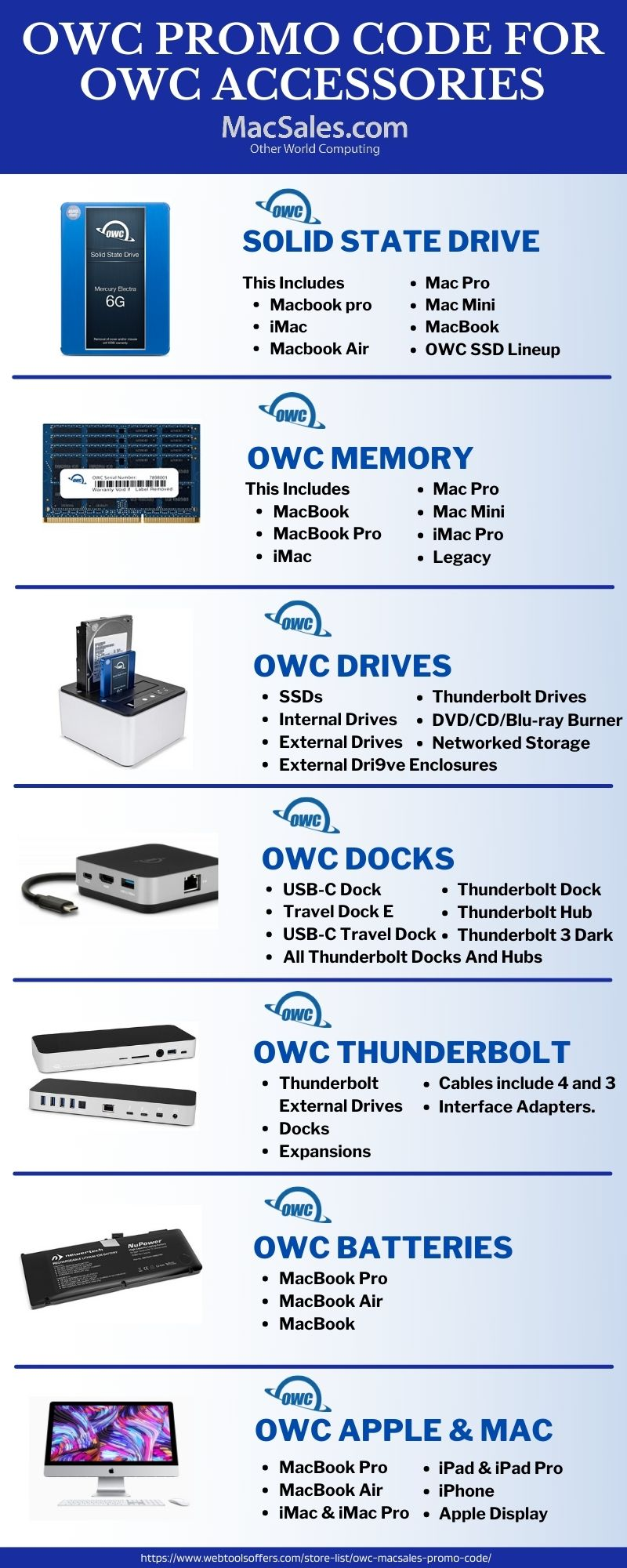 OWC macsales coupon Code accessories