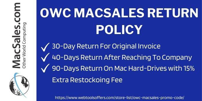 owc macsales return policy
